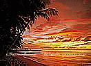 Tobago Sunset  Large tropical Wall Murals