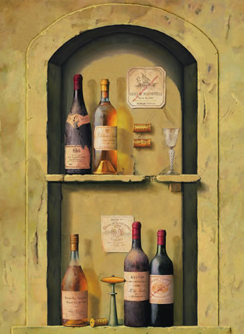 wine bottle niche mural tk6485m. Black Bedroom Furniture Sets. Home Design Ideas